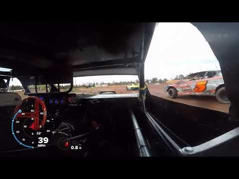 10-20-18 Tomahawk Speedway Stock Car Heat In-Car
