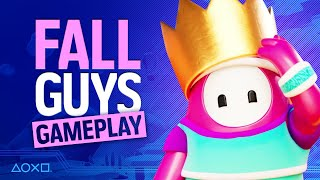 Fall Guys Ps4 Gameplay   Watch Us Win  Twice!