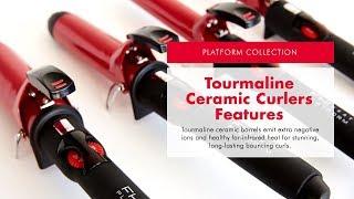 Platform Tourmaline Ceramic Curling Irons - Sizes & Features