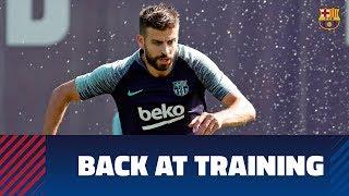 Back at training ahead of Real Sociedad trip