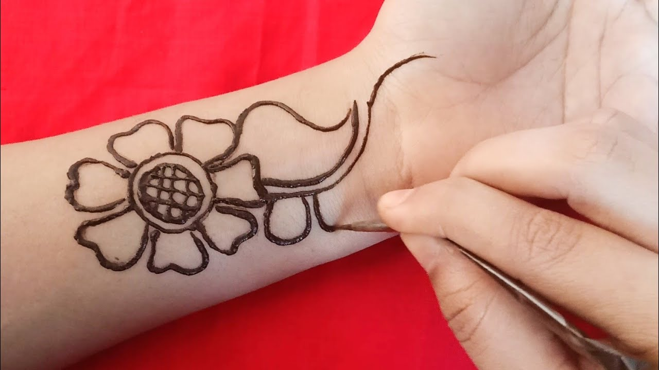 Simple / Easy arabic mehndi designs / full front hand mehndi design 37
