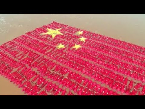 World's Largest Floating Human Flag Formed In N China