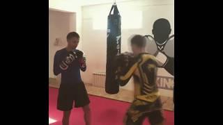 Тренировка по боксу новичка!!)))