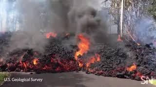 Hawaii's Kilauea volcano spews lava through Leilani Estates   Science News
