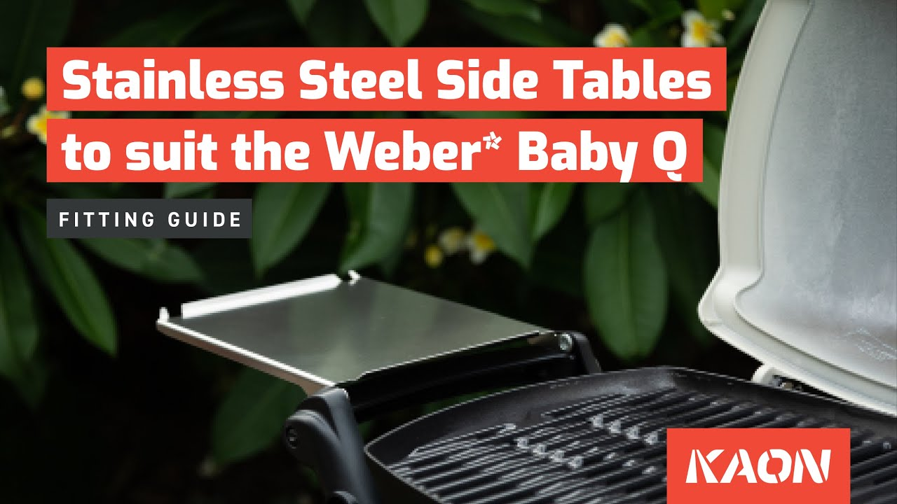 Stainless Steel Side Tables To Suit Weber Baby Q100 Q1000