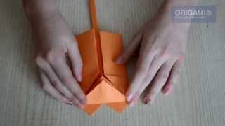 Лиса оригами говорит