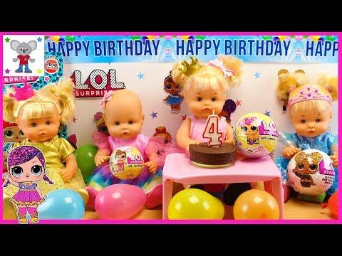 Fiesta de Cumpleaños MUÑECAS LOL SURPRISE de la Bebé NENUCO Cuca con las HERMANITAS TRAVIESAS