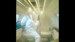 Desinfecção de aeronave com New Joker