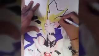 como dibujar a yugi muto -how to draw YU-GI-OH