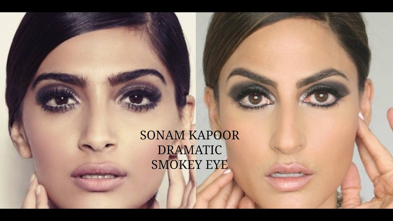 SONAM KAPOOR DRAMATIC SMOKEY EYE MAKEUP - YouTube