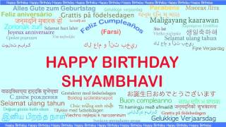 Shyambhavi   Languages Idiomas - Happy Birthday