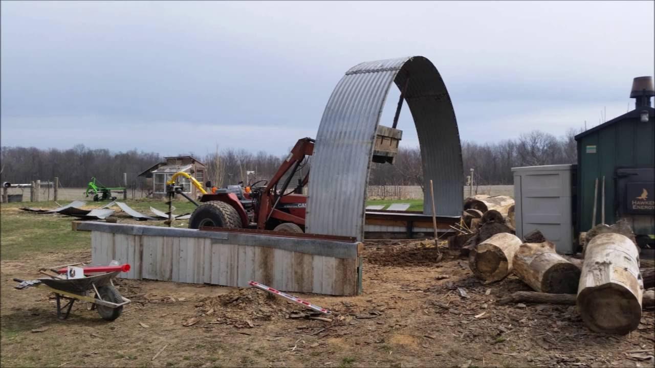 Grain Bin Home Quonset Hut Build Re Purposed Grain Bin Youtube