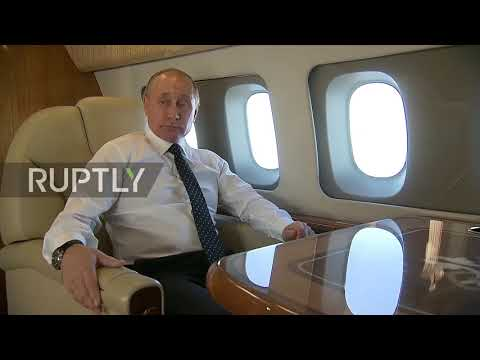 International airspace: Military jets escort Putin on surpri