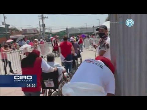 Alcalde de Chimalhuacán busca reelegirse por cuarta vez promocionándose con vacunas COVID