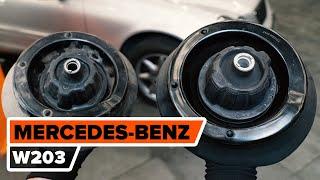Como substituir cabeçotes do amortecedores no MERCEDES-BENZ W203 Classe C [TUTORIAL AUTODOC]