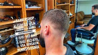 Стрижка Haircut BarbershopAlteregoUSA VitaliiRybachenko Hairdresser Barber USA Pennsylvania 5