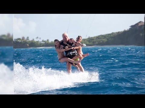 Richard Branson Breaks Guinness World Kite Surfing Record | Splash News TV | Splash News TV