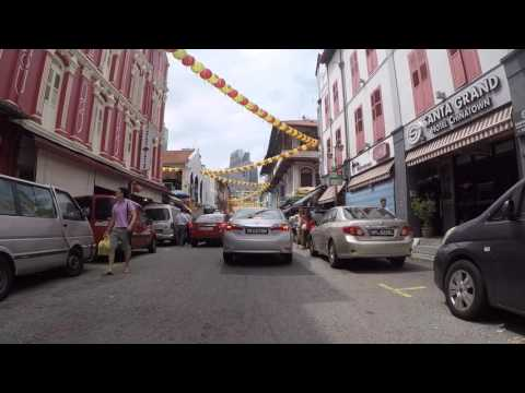 Singapour Route vers Chinatown, Gopro / Singapore Road to Chinatown, Gopro