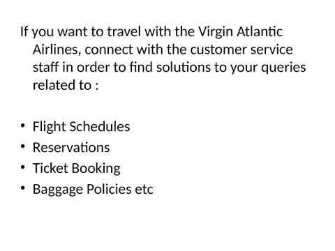 Virgin Atlantic Reservations Phone Number 1-8882055288