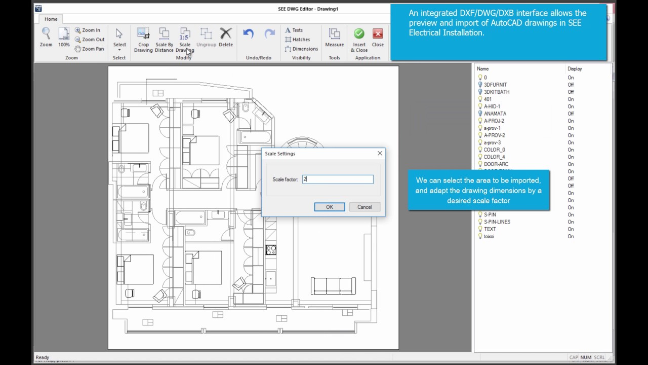 SEE Electrical Building + DWG import - YouTube