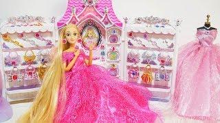 Princess Barbie & Rapunzel Jewelry Castle Accessory Dress