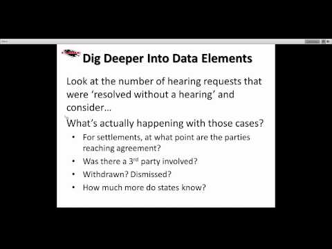 CADRE Webinar~Dispute Resolution National Trends: 8 Years of APR/Section 618 Data