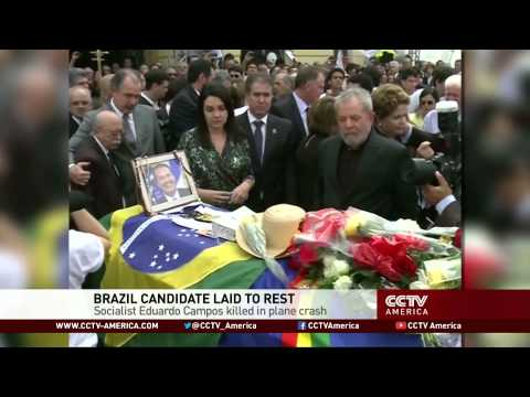 Thousands gather at funeral of Eduardo Campos