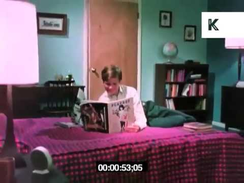 Teenage boy reading Playboy magazine in his Bedroom, 1960s, USA from YouTube · Duration:  57 seconds