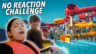 EXTREME WATER SLIDES No REACTION Challenge!! | Ranz and Niana