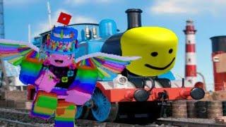 Mon personnage Roblox dansant à Thomas le moteur de réservoir