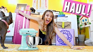 MOVING IN HAUL!🏠🛍️ New kitchen appliances, blankets & makeup!