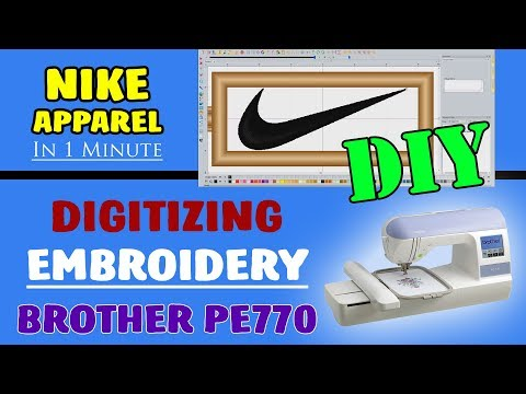 How To Make Embroidery Designs | DIY Nike Apparel | Brother PE770 (Part 1)