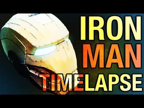 Homemade Iron Man Mk7 Helmet - Pepakura - Timelapse of Assembly