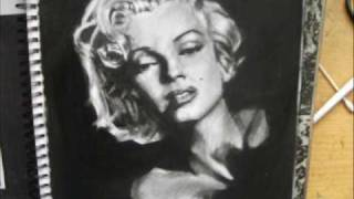 ☆☆How to draw MARILYN MONROE Speed Drawing Video --NZportrait☆☆