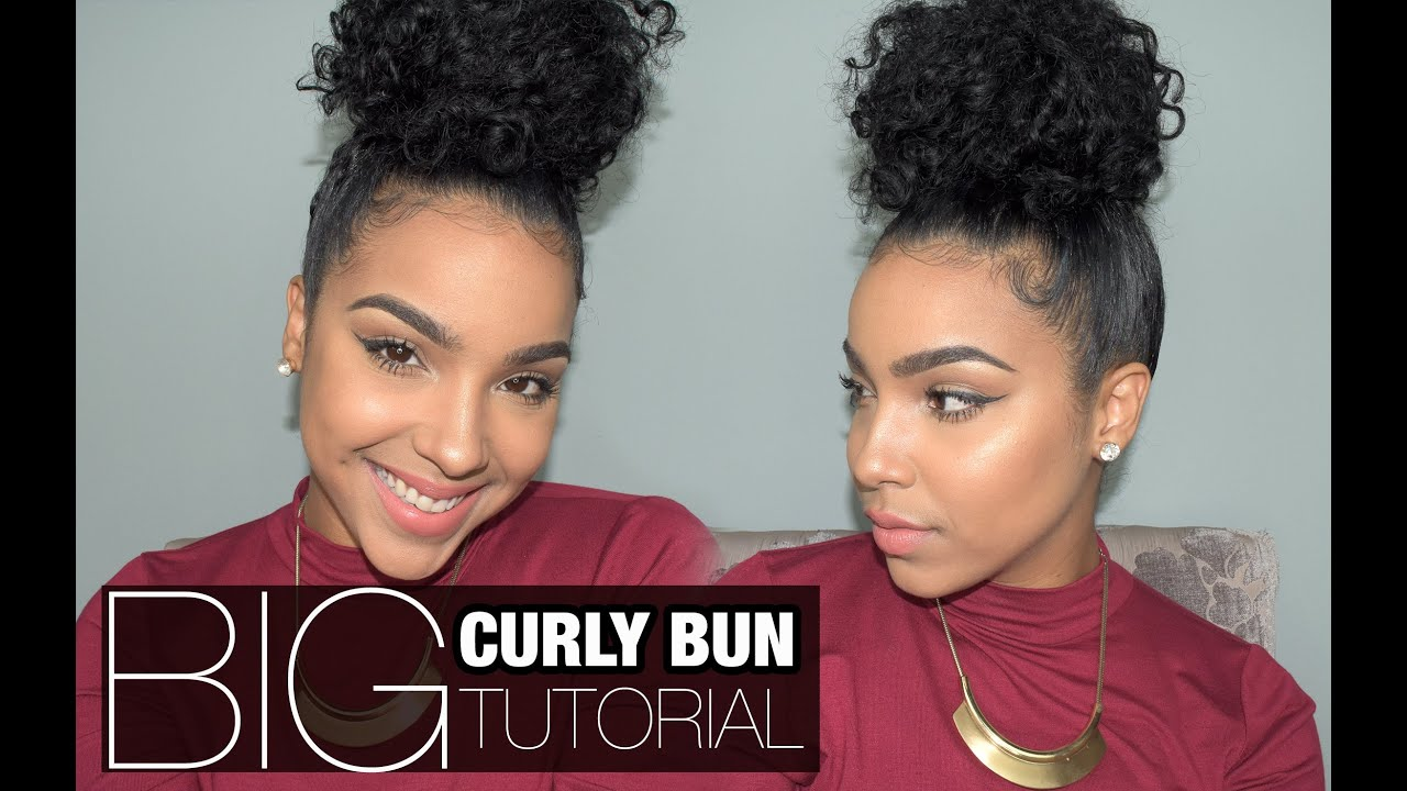 Big Curly Bun Tutorial Youtube