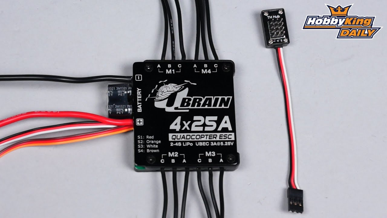 Hobbyking Daily Hk Q Brain 25a Esc Youtube Quadcopter Wiring Diagram