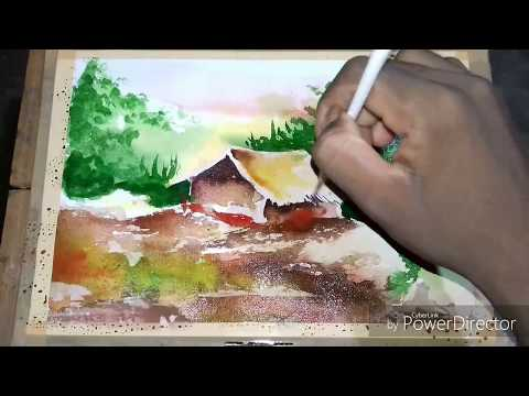 Watercolor demonstration