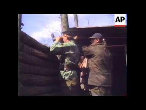 Bosnia - Serb Soldiers Dig In Around Brcko