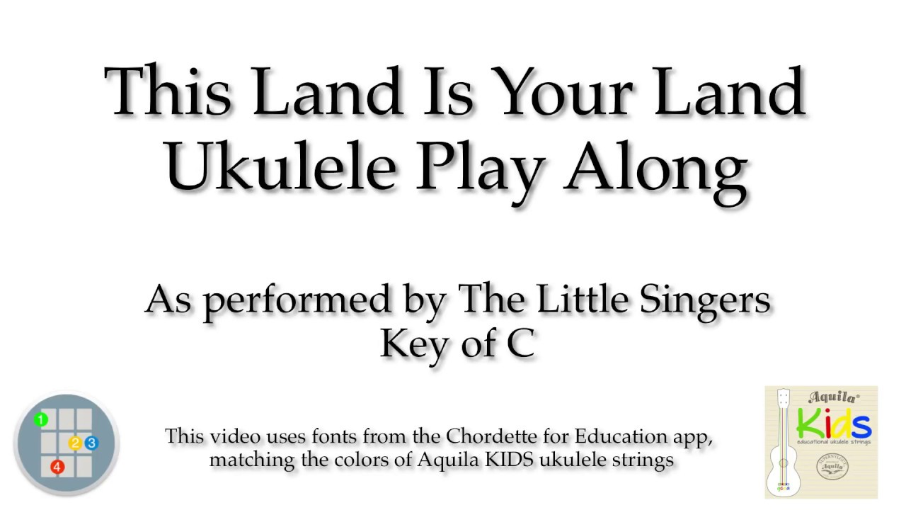 This land is your land ukulele play along with kids colors youtube this land is your land ukulele play along with kids colors hexwebz Image collections