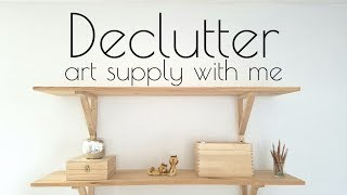 DECLUTTER WITH ME 🍑 Art supply