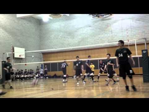 Edward R Murrow high school men's volleyball April 4, 2013 (2) against Fort Hamilton