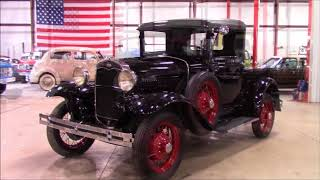 1930 Ford Model A Pickup Black
