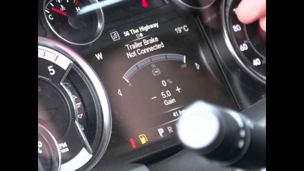 4th Gen 20092012 Dodge Ram Integrated Trailer Brake Controller