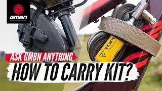 Should I Carry My Kit On My Bike Or In A Bag? | Ask GMBN Anything