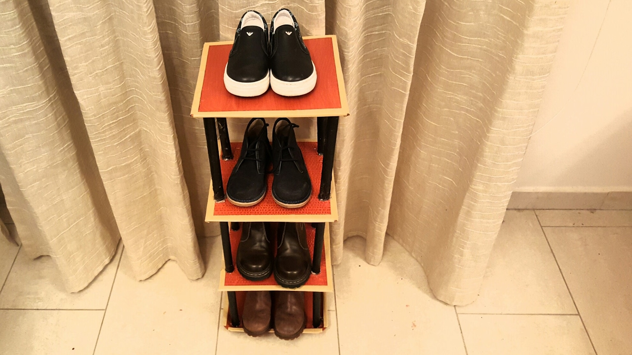 Diy Shoe Rack Diy How To Cardboard Shoe Rack Shelf Tutorial For Kids Shoe