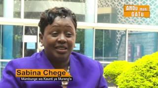 SABINA CHEGE-Mumbunge wa Kaunti ya Muranga HD