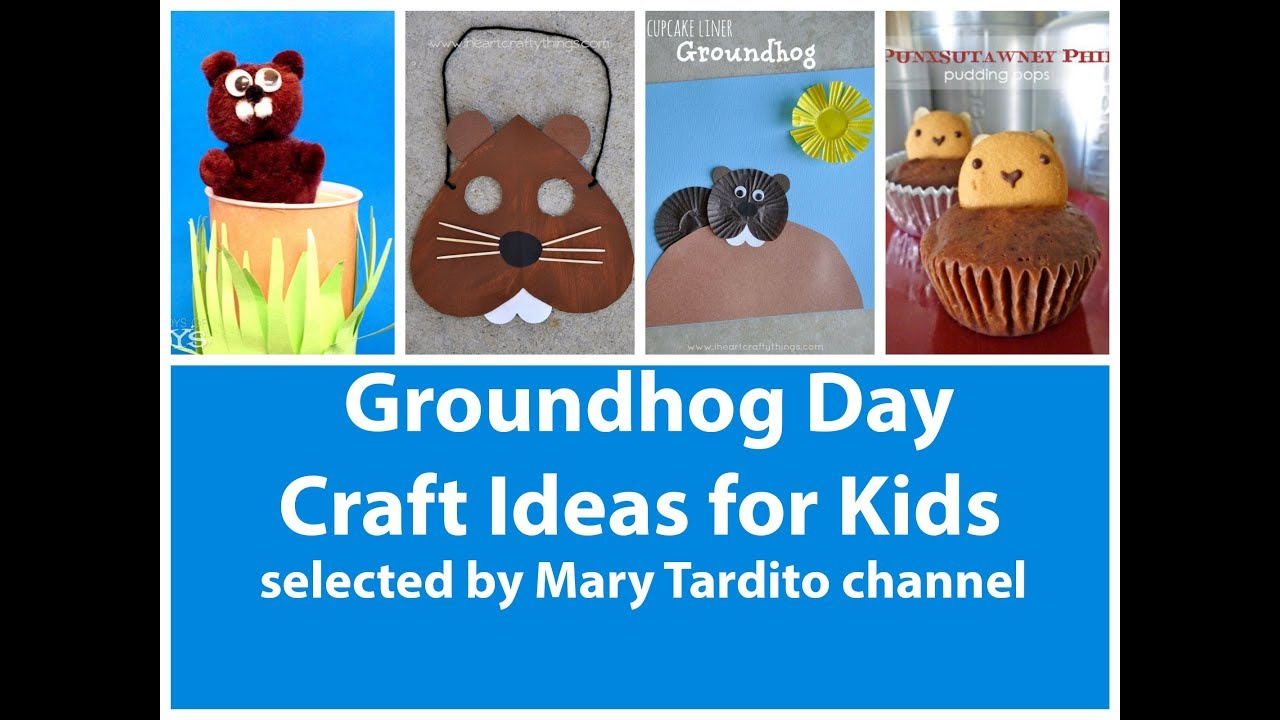 Groundhog Day Crafts For Kids Kids Crafts Ideas Youtube