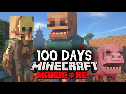I Spent 100 Days in a Parasite Apocalypse in Minecraft... Here's What Happened