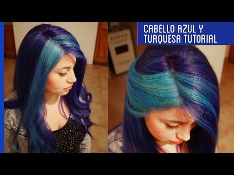 Cómo decolorar el cabello teñido y pintarlo de PELO AZUL Y TURQUESA TUTORIAL Otowil