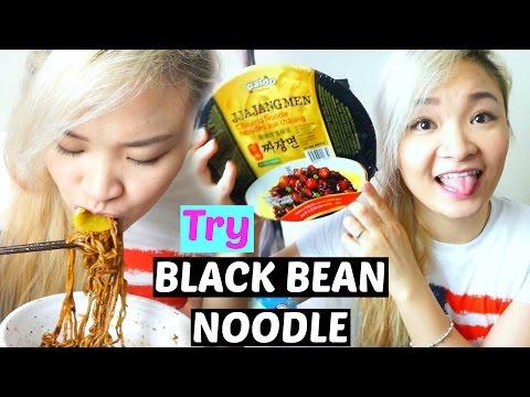Thử Ăn Mì Tương Đen Hàn Quốc | Try Korean Black Bean Noodles ♡ BeeSweetiee